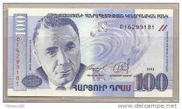 Armenia - Banconota Non Circolata Da 100 Dram - 1998 - - Armenia