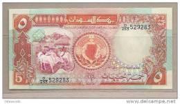 Sudan - Banconota Non Circolata Da 5 Sterline - Sudan