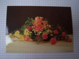 Entier Postal Bouquet Rose, Glaieuls, Marguerite - Rosas