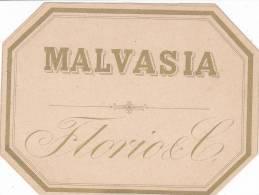 """ETICHETTA LIQUORE """"MALVASIA """" DORATA FLORIO &C MARSALA -2-0882-14940 - Etiquettes"""