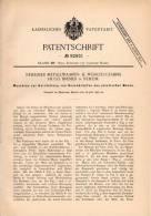 Original Patentschrift - Hugo Bremer In Neheim , 1896 , Maschine Zur Knopf - Herstellung, Knöpfe !!! - Maschinen