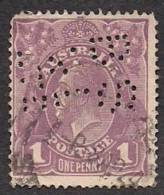KING GEORGE V One Penny Lilac 1914-1924 Perfin BS RL LTE Single WMK Crown A - Used Stamps