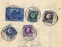 148 A + 211 B + 197 + 214 A + 216 Sur Document  1923 - 1915-1920 Albert I