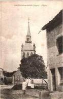 CPA 88 (Vosges) Châtillon-sur-Saône - L'église, Animée : Enfant, Charrue - Andere Gemeenten