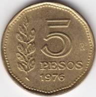 @Y@  Argentienië  5  Pesos  1976  UNC (C240) - Argentine