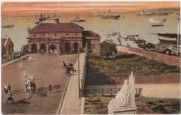 Ceylon Hafen Sri Lanka Harbour Color TIENTSIN DEUTSCHE POST 2 Cents 31.12.1906 Gelaufen - Offices: China