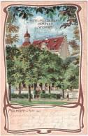 Mülheim An Der Ruhr Hotel Restaurant KÄMPGEN WIGWAM Color Litho 31.5.1903 Gelaufen - Muelheim A. D. Ruhr