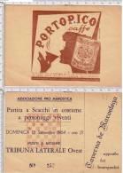MAROSTICA. Vicenza. Scacchi. Giochi. Caffè. Portorico. Ristoranti. Taverne.  53p - Toegangskaarten