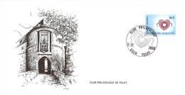 Feluy-Club Philatélique-Semaine Du Coeur-1980-Entrée Du Château-fort De Feluy - Marcophilie