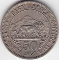 @Y@  East Afrika   50  Cent / 1/2 Shilling   1960   (C252) - Afrique Du Sud