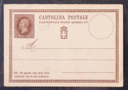 FRC100 - REGNO - CARTOLINA POSTALE CENT 15 NUOVA - 1861-78 Vittorio Emanuele II