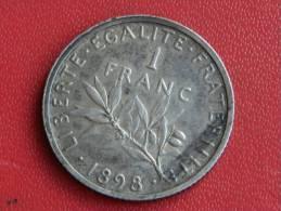 1 Frs Semeuse 1898 En état Superbe - Francia