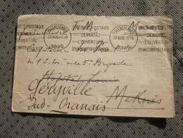 Militaria Lettre FM Militaire: Valenciennes 27/11/1925 Capitaine  5é Brigadeà Meknès Reexpedition  Geryville Sud Oranais - Marcophilie (Lettres)