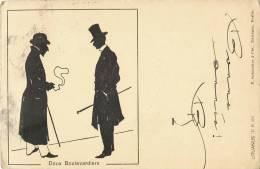 ILLUSTRATEUR LITUANUS C.P. N°171 DEUX BOULVARDIERS 1906 OMBROMANIE Schneider Berlin - Illustrateurs & Photographes