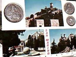 SAN MARINO VEDUTE E MONETE  V1970 EC11449 - Monete (rappresentazioni)