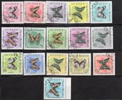 Lot  De 16  Timbres - - Oblitérés - Papillons     -GUINEE - Schmetterlinge