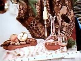 FREUTTA SECCA E VINO  IN BICCHIERE V1968  EC11456 - Natale