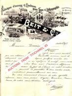Facture Superbement Illustrée De 1898 - BRUXELLES - BEIT & Cie - Fabrique D´encres & Couleurs Pour Typo & Lithographie - Zonder Classificatie