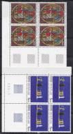 N° 2363 Et 2364: Série Artistique: 2 Blocs 4 Timbres: Vitrail De La Cathédrale De Strasbour: Nature Morte Aux Chandel - France