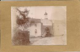 44  LA  MAILLERAYE    PHOTO  1903  PORTAIL DE L ABBAYE  DES  TRAPPISTES DE LA MEILLERAY(  CALECHE  ) - France
