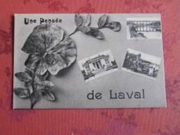 YZ6  CPA  LAVAL UNE PENSEE DE LAVAL MULTIVUES - Laval