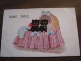 Ancienne CARTE POSTALE = CPA  / 51323     Chat  Bonne Annee - Gatti