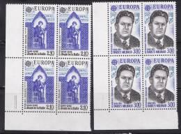 N° 2366 Et 2367 Europa 1985 Blocs De 4 Timbres: Adam De La Halle Trouvère Et Darius Milhaud Commpositeur - Frankrijk