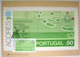 1980 AZORES ACORES PORTUGAL WORLD TOURISM CONFERENCE MAXIMUM CARD 1 - Maximum Cards & Covers
