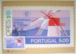 1980 AZORES ACORES PORTUGAL WORLD TOURISM CONFERENCE MAXIMUM CARD 3 - Maximum Cards & Covers