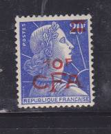 FRANCE CFA N° 337 10F S 20F BLEU TYPE MARIANNE DE MULLER NEUF SANS CHARNIERE - Réunion (1852-1975)