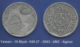Yemen - 10 Riyal - KM 27 - 2003 - UNC - Agouz - Yémen