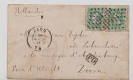 LETTRE PETIT FORMAT AVEC 2 X N° 3 A VOIR - 1878 - Belgique