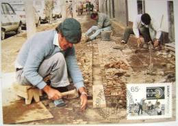 1991 AZORES ACORES PORTUGAL TYPICAL LOCAL JOB JOBS MAXIMUM CARD MC 2 - Jobs