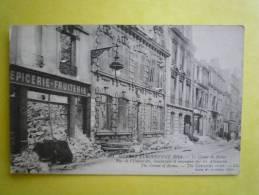 51 MARNE LE CRIME DE REIMS GUERRE EUROPENNE 1914 RUE DE L'UNIVERSITE BOMBARDEE ET INCENDIEE PAR LES ALLEMANDS LL 251 - Francia