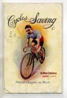 PUBLICITE Sport Cyclisme   CYCLES SAVING   POULAIN Champion Du Monde  1907 Ecrite   /D1-2013 - Publicité
