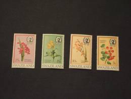 SWAZILAND -  1971 FIORI 4valori  NUOVI(++)-TEMATICHE - Swaziland (1968-...)
