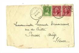 ETATS-UNIS – EVANSTON  Killer « 1 ». MAR.26-1932 S. Yv.N°228/1ct. + 229 X 2/2cts Pour JOUEIX (Fce) - Postal History