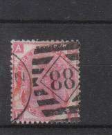 GB 1865 - 1883 3d Red  Plate 9 Used, Large White Corner Letters, Wmk Spray Of Rose. - 1840-1901 (Viktoria)