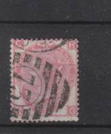 GB 1865 - 1883 3d Red  Plate 10 Used, Large White Corner Letters, Wmk Spray Of Rose. - 1840-1901 (Viktoria)