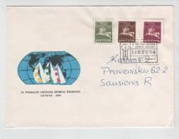 Lithuania Cover With Special Cancel Kaunas 1991 - Lithuania