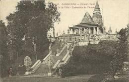 CAMBODGE - PHNOM-PENH   JARDIN DE LA VILLE - ENSEMBLE DU PHNOM  1610 - Cambodge