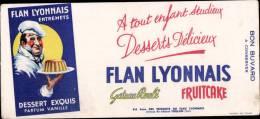 FLAN LYONNAIS - BUVARD PUBLICITAIRE - Food