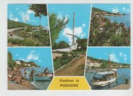 Yugoslavia Post Card Podgora 7-9-1987 Sent To Denmark - Yugoslavia