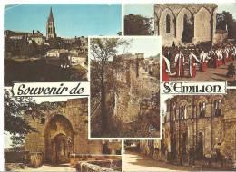 CPSM   SAINT-EMILION  (années 1978 / 1980 ) . Souvenir De Saint-Emilion. - Gruss Aus.../ Grüsse Aus...