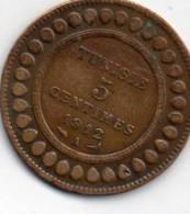 - Pièce De Monnaie 5 Centimes 1912 Tunisie   - 881 - Monnaies