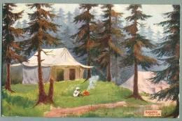 Camp Life In Kashmir India Ca. 1909 Raphael Tuck Oilette Postcard Artist-signed F.G. Parbury (kk-6) - India