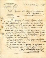 CETTE   Lettre   De  1894 Alcool Du Nord & Du Midi Courtier E Marchandises Archbold Aspol - 1800 – 1899