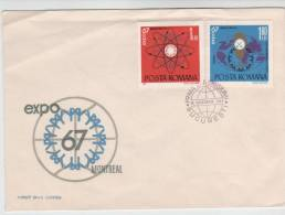 Romania FDC EXPO67 Montreal 28-11-1967 With Cachet Not Complete - FDC