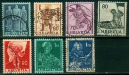 Schweiz  1941  Freimarken - Historische Darstellungen  (7 Gest. (used))  Mi: 377-82, 384 (4,40 EUR) - Suisse