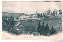 LA ROCHE SUR FORON ET LA TOUR DES CAPUCINS CARTE PLIS EDITEUR CAVALLI - La Roche-sur-Foron
